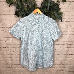 Denim and Flower Ricky Singh Blue Pattern Shirt